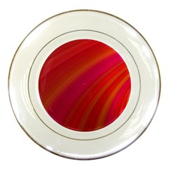 Abstract Red Background Fractal Porcelain Plates