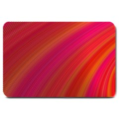 Abstract Red Background Fractal Large Doormat