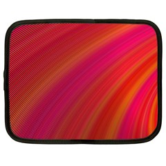 Abstract Red Background Fractal Netbook Case (large)