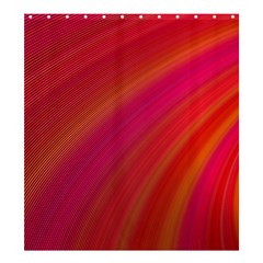 Abstract Red Background Fractal Shower Curtain 66  X 72  (large)