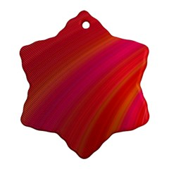 Abstract Red Background Fractal Ornament (snowflake)
