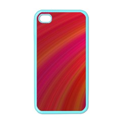 Abstract Red Background Fractal Apple Iphone 4 Case (color)