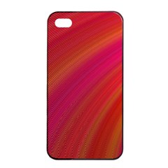 Abstract Red Background Fractal Apple Iphone 4/4s Seamless Case (black)