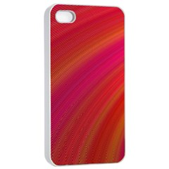 Abstract Red Background Fractal Apple Iphone 4/4s Seamless Case (white)