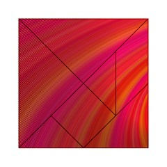 Abstract Red Background Fractal Acrylic Tangram Puzzle (6  X 6 )