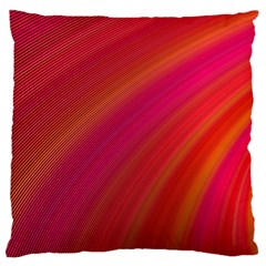 Abstract Red Background Fractal Large Cushion Case (one Side)