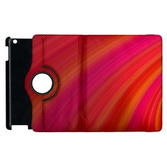 Abstract Red Background Fractal Apple Ipad 3/4 Flip 360 Case
