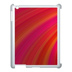 Abstract Red Background Fractal Apple Ipad 3/4 Case (white)