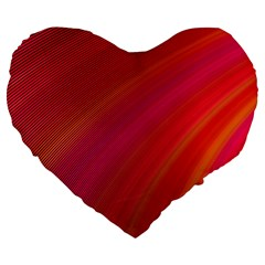 Abstract Red Background Fractal Large 19  Premium Heart Shape Cushions