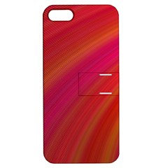 Abstract Red Background Fractal Apple Iphone 5 Hardshell Case With Stand