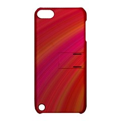 Abstract Red Background Fractal Apple Ipod Touch 5 Hardshell Case With Stand