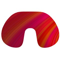 Abstract Red Background Fractal Travel Neck Pillows
