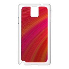 Abstract Red Background Fractal Samsung Galaxy Note 3 N9005 Case (white)