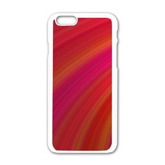 Abstract Red Background Fractal Apple Iphone 6/6s White Enamel Case