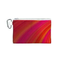 Abstract Red Background Fractal Canvas Cosmetic Bag (s)