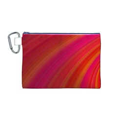 Abstract Red Background Fractal Canvas Cosmetic Bag (m)