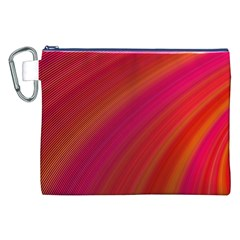 Abstract Red Background Fractal Canvas Cosmetic Bag (xxl)
