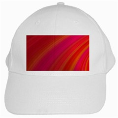 Abstract Red Background Fractal White Cap