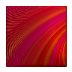 Abstract Red Background Fractal Tile Coasters