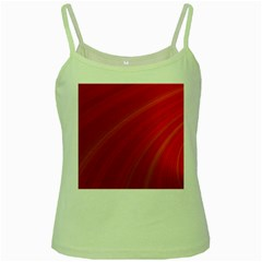 Abstract Red Background Fractal Green Spaghetti Tank