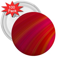 Abstract Red Background Fractal 3  Buttons (100 Pack)