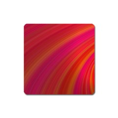 Abstract Red Background Fractal Square Magnet