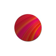 Abstract Red Background Fractal Golf Ball Marker