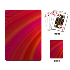Abstract Red Background Fractal Playing Card