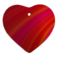 Abstract Red Background Fractal Heart Ornament (two Sides)