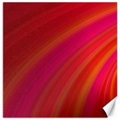 Abstract Red Background Fractal Canvas 12  X 12