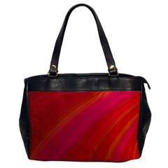 Abstract Red Background Fractal Office Handbags