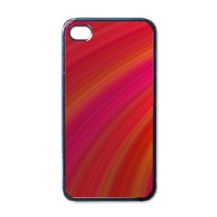 Abstract Red Background Fractal Apple Iphone 4 Case (black)