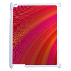 Abstract Red Background Fractal Apple Ipad 2 Case (white)