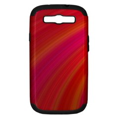 Abstract Red Background Fractal Samsung Galaxy S Iii Hardshell Case (pc+silicone)