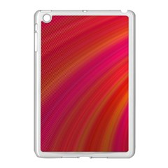 Abstract Red Background Fractal Apple Ipad Mini Case (white)