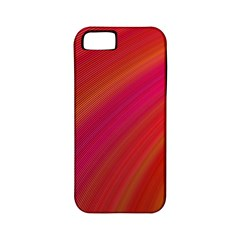 Abstract Red Background Fractal Apple Iphone 5 Classic Hardshell Case (pc+silicone)