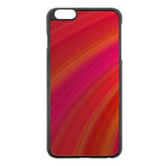 Abstract Red Background Fractal Apple Iphone 6 Plus/6s Plus Black Enamel Case