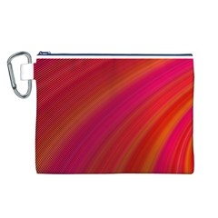 Abstract Red Background Fractal Canvas Cosmetic Bag (l)