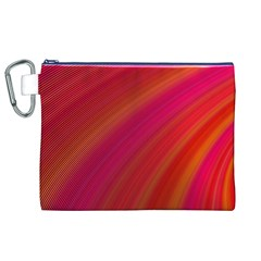Abstract Red Background Fractal Canvas Cosmetic Bag (xl)