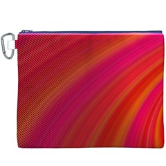 Abstract Red Background Fractal Canvas Cosmetic Bag (xxxl)
