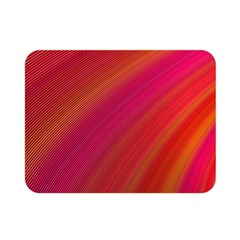 Abstract Red Background Fractal Double Sided Flano Blanket (mini)