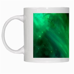 Green Space All Universe Cosmos Galaxy White Mugs
