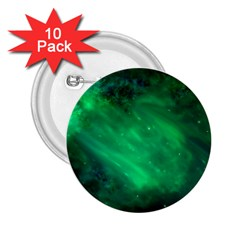 Green Space All Universe Cosmos Galaxy 2 25  Buttons (10 Pack)