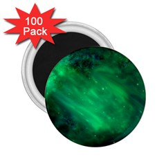 Green Space All Universe Cosmos Galaxy 2 25  Magnets (100 Pack)