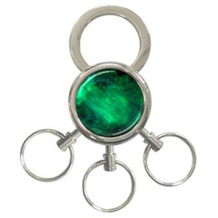 Green Space All Universe Cosmos Galaxy 3 Ring Key Chains