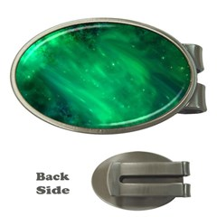 Green Space All Universe Cosmos Galaxy Money Clips (oval)