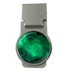 Green Space All Universe Cosmos Galaxy Money Clips (round)