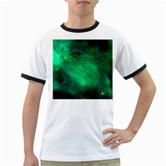 Green Space All Universe Cosmos Galaxy Ringer T Shirts
