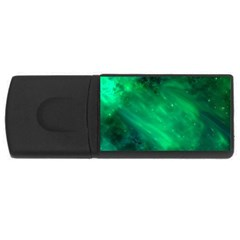 Green Space All Universe Cosmos Galaxy Rectangular Usb Flash Drive