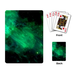 Green Space All Universe Cosmos Galaxy Playing Card